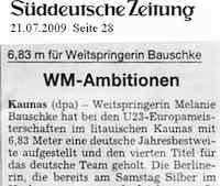 Zeitungsbericht Süddeutsche Zeitung