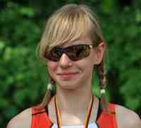Marie Ulrich (Kl. 9) vom Triathlon Verein Berlin 09 ist Sportstadträtin 2012