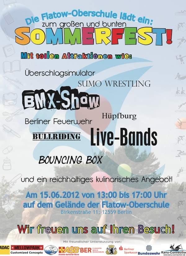 Flatow-Oberschule » Einladung: Schulfest 15. Juni 2012  Flatow-Oberschu...