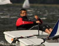 Trainings-Foto: Alexander Ebert (Q1) gewinnt den Laser Europacup am Gardasee!