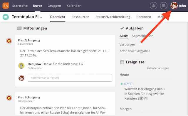 E-Mail-Benachrichtigung einstellen