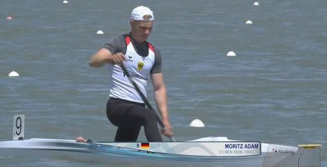 Moritz Adam bei der EM
